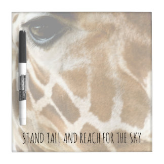 Giraffe Nature Photo | Inspirational Quotes Dry Erase Board