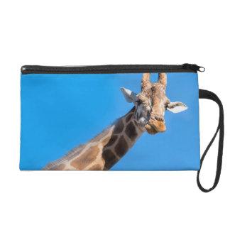 Giraffe neck and head wristlet purses