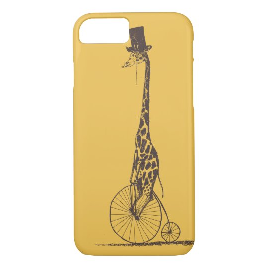 Giraffe on a Bicycle iPhone 7 Case