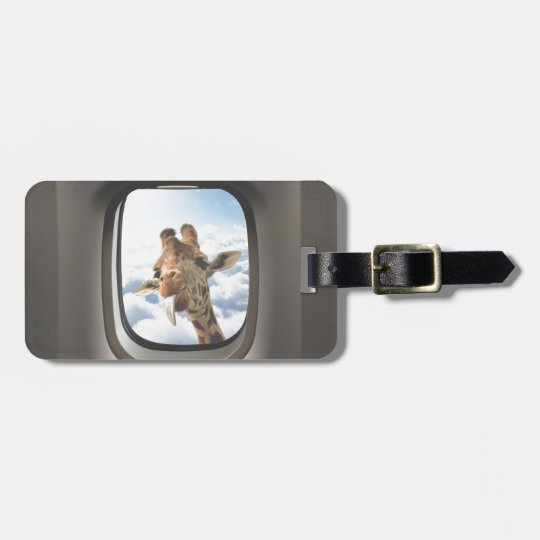 Giraffe On Board Luggage Tag