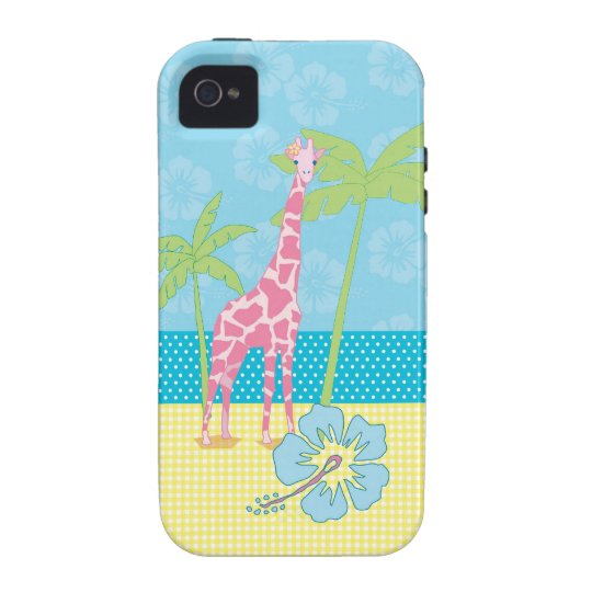 Giraffe on the beach iPhone 4 case