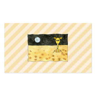 Giraffe on the Moon. Double-Sided Standard Business Cards (Pack Of 100)