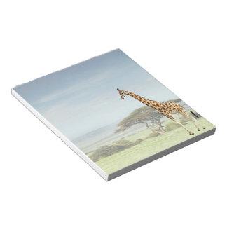 Giraffe on the Serengeti Notepad