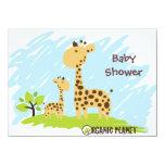 Giraffe Organic Planet Baby Shower Invitaitions 11 Cm X 16 Cm Invitation Card