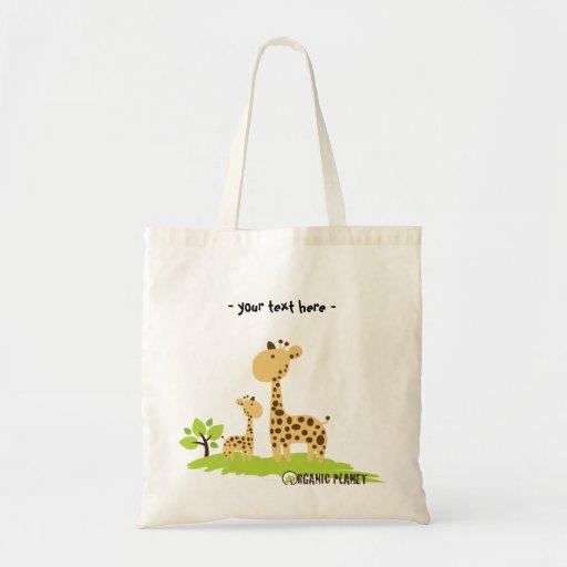 Giraffe Organic Planet Canvas Reusable Bags