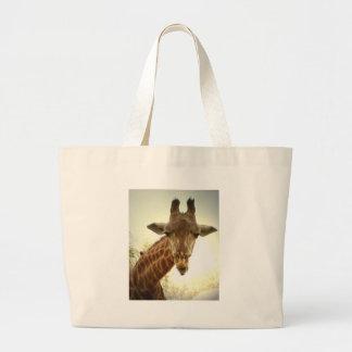 Giraffe orig -zaz canvas bag