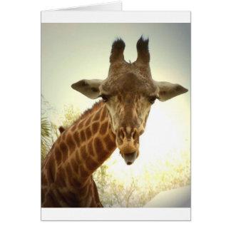 Giraffe orig -zaz card