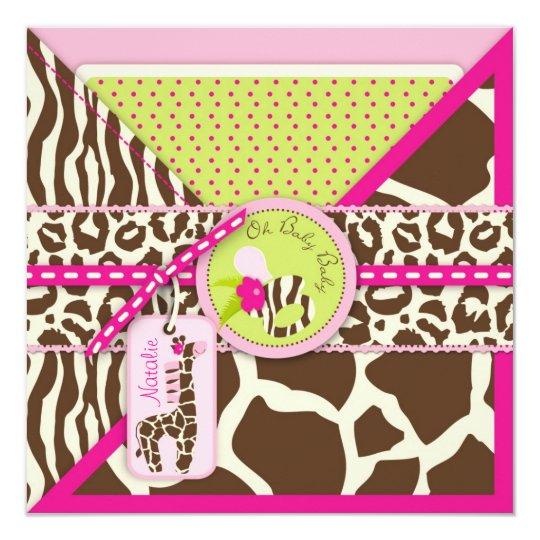 Giraffe & Pacifier Safari Animal Print Baby Shower