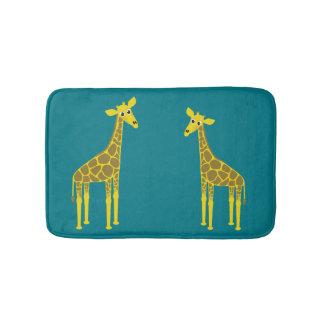 Giraffe pair bath mats