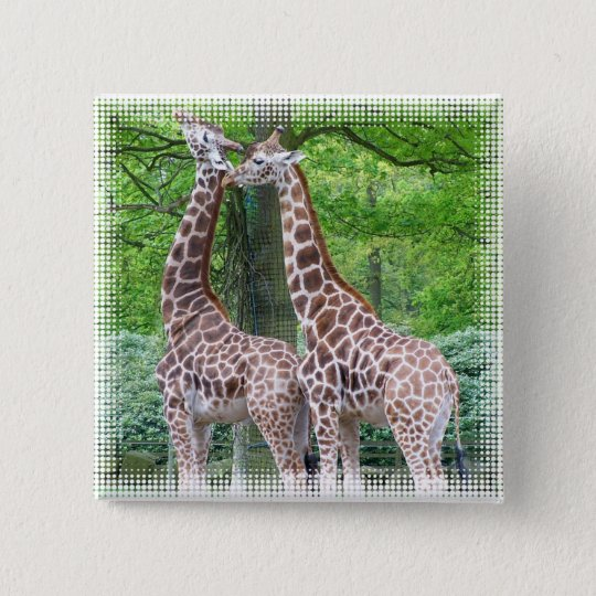 Giraffe Pair Square Pin