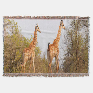 Giraffe Pair Throw Blanket