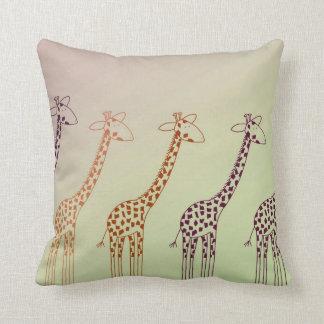 Giraffe Parade Pillow