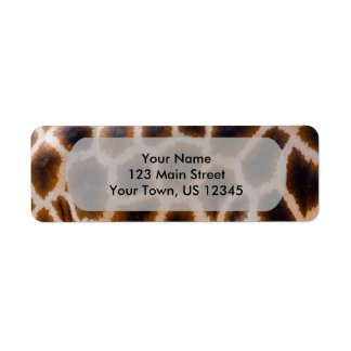 Giraffe Patches Spotted Skin Texture Template Return Address Label