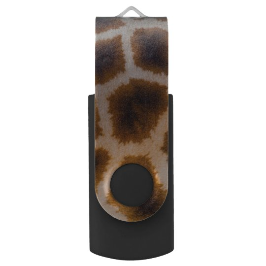 Giraffe Patches Spotted Skin Texture Template Swivel USB