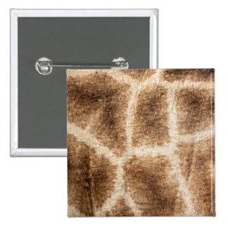Giraffe pattern 15 cm square badge