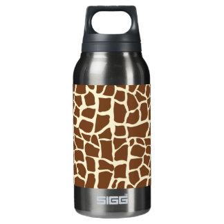 Giraffe pattern animal print insulated water bottle