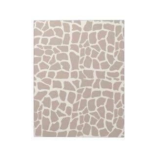 Giraffe pattern animal print notepad