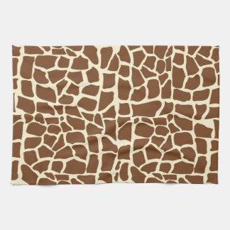 Giraffe pattern animal print tea towel