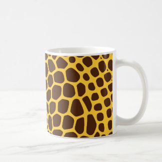 Giraffe Pattern- Any Colour Background Coffee Mug