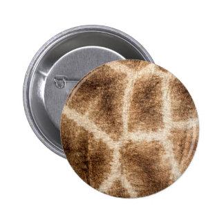 Giraffe pattern 6 cm round badge