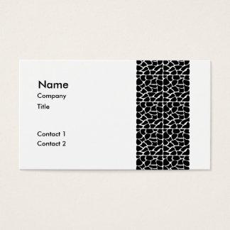 Giraffe Pattern Black & White Business Card