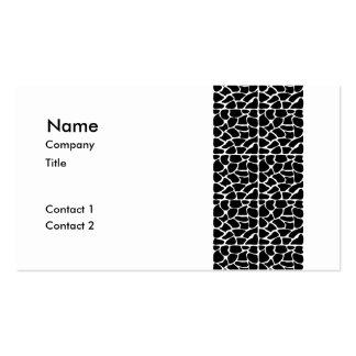 Giraffe Pattern Black White Business Card Template
