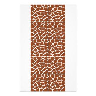 Giraffe Pattern. Brown. 14 Cm X 21.5 Cm Flyer