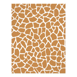 Giraffe Pattern Brown Animal Print Design. 21.5 Cm X 28 Cm Flyer