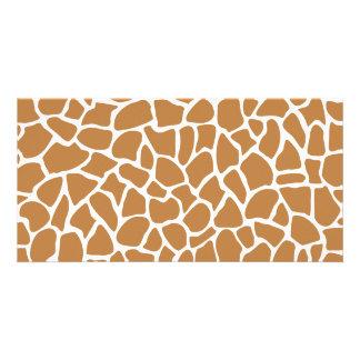 Giraffe Pattern Brown Animal Print Design Photo Cards
