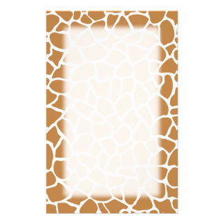 Giraffe Pattern Brown Animal Print Design. Stationery
