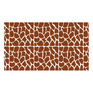 Giraffe Pattern. Brown. Business Cards
