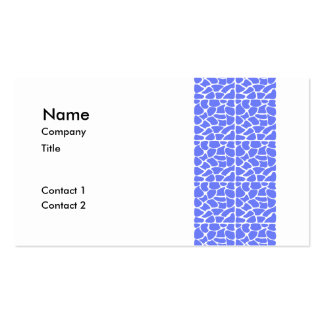 Giraffe Pattern. Cornflower Blue. Business Card Templates