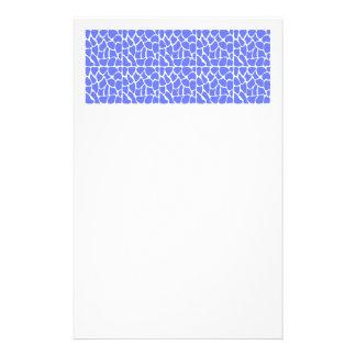 Giraffe Pattern. Cornflower Blue. Stationery