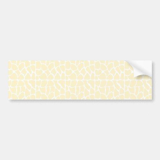 Giraffe Pattern. Cream Color Bumper Stickers