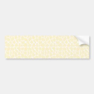 Giraffe Pattern Cream Color Bumper Stickers