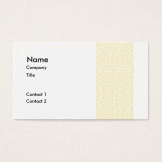 Giraffe Pattern. Cream Color Business Card