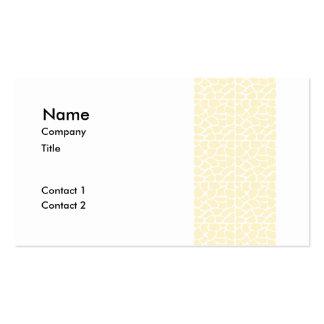 Giraffe Pattern. Cream Color Business Card Templates