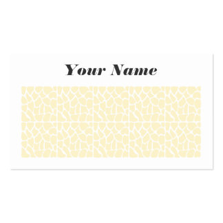 Giraffe Pattern. Cream Color Pack Of Standard Business Cards
