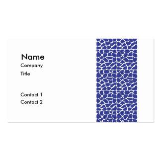 Giraffe Pattern. Dark Blue. Business Card