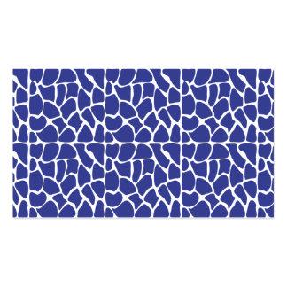 Giraffe Pattern. Dark Blue. Pack Of Standard Business Cards