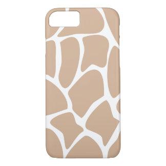Giraffe Pattern in Beige. iPhone 8/7 Case