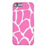Giraffe Pattern in Bright Pink. Slim iPhone 6 Case
