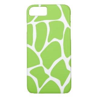 Giraffe Pattern in Lime Green. iPhone 8/7 Case
