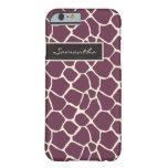 Giraffe Pattern iPhone 6 Case (purple)