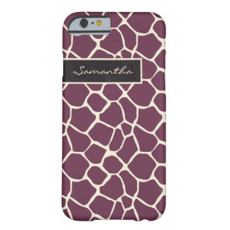 Giraffe Pattern iPhone 6 Case (purple)