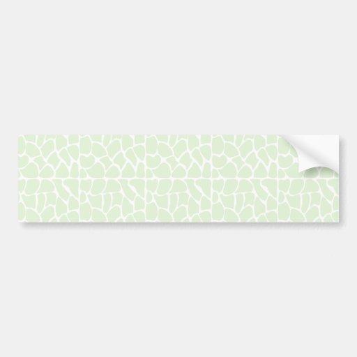 Giraffe Pattern. Mint Green. Bumper Stickers