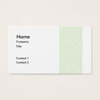 Giraffe Pattern. Mint Green. Business Card