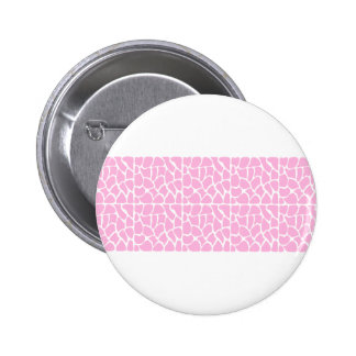 Giraffe Pattern. Pale Pink. 6 Cm Round Badge