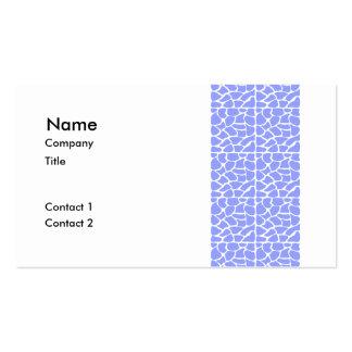 Giraffe Pattern. Sky Blue. Business Cards
