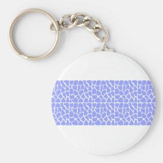 Giraffe Pattern. Sky Blue. Keychain